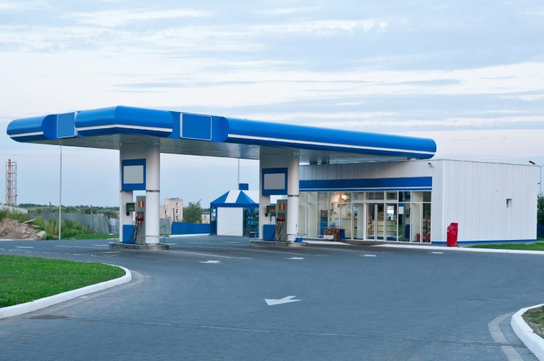 Gas station Interior and Exterior Painted by Pesada