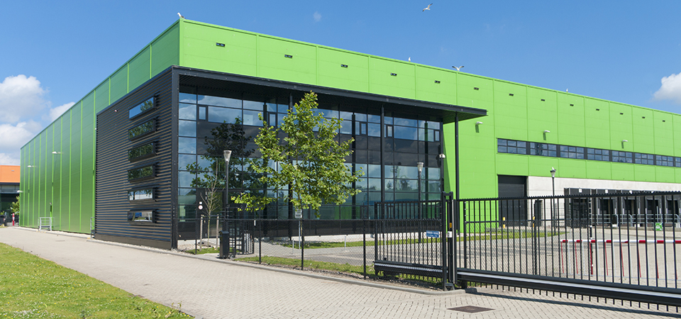 Corrugated Steel Cladding Painted Bright Green